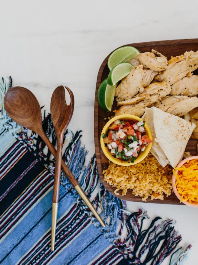Recipes A Self Serve Fajita Taco Bar The Effortless Chic
