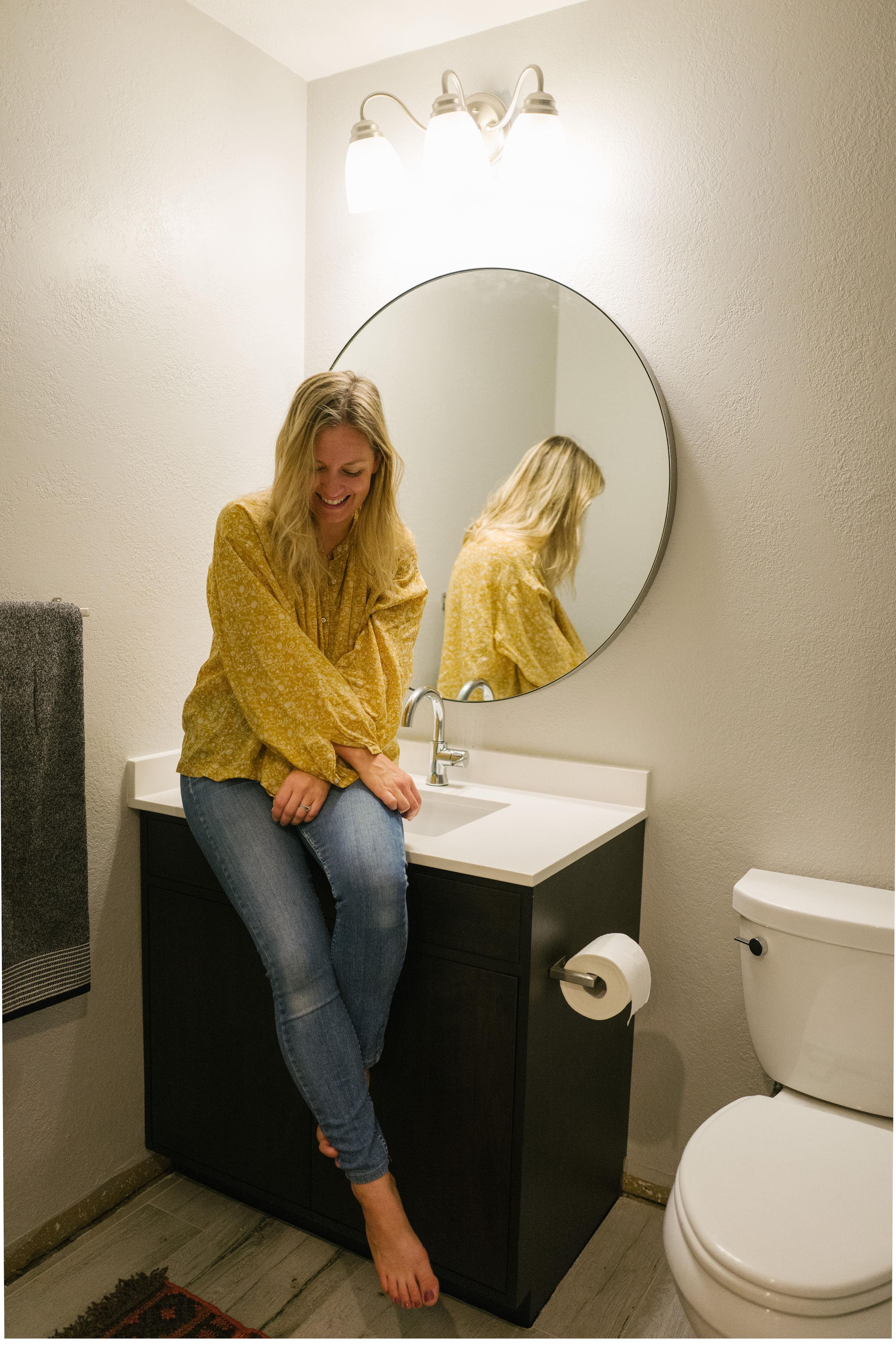 bathroom update delta faucet reveal