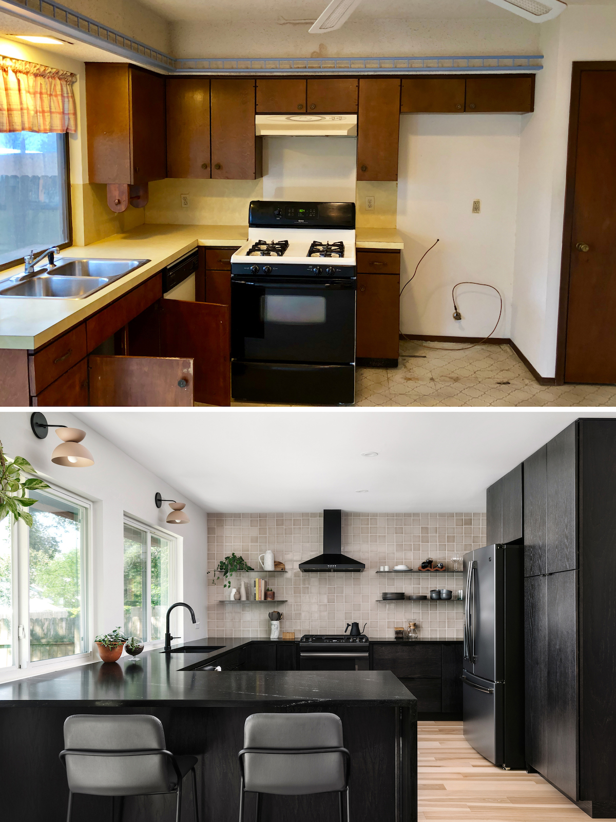 1970s Kitchen Remodel Before and Afters > The Effortless Chic on Modern:gijub4Bif1S= Kitchen Remodel  id=17691