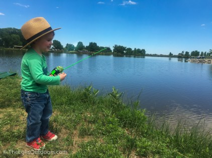 Happy little fisherman - St. Vrain State Park