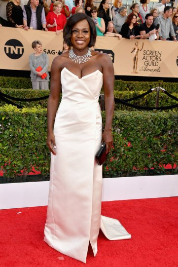 LOS ANGELES, CA - JANUARY 29: Actor Viola Davis attends the 23rd Annual Screen Actors Guild Awards at The Shrine Expo Hall on January 29, 2017 in Los Angeles, California. (Photo by Steve Granitz/WireImage)