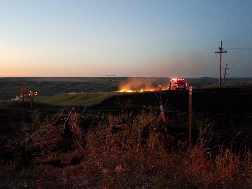 GFFR grass fire scene