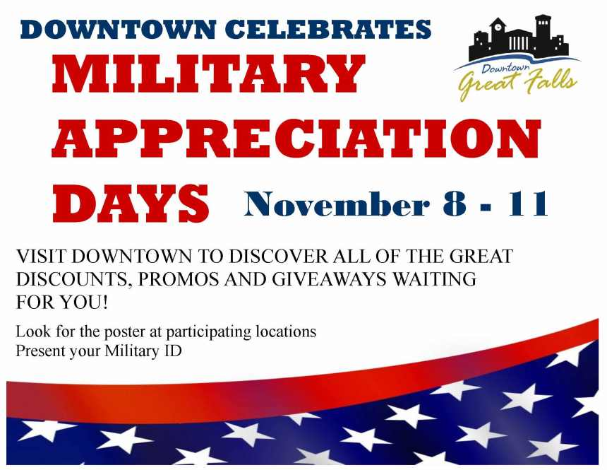 Military appreciation poster Nov 2018