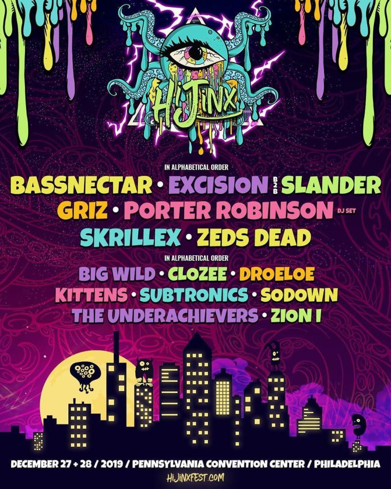 HiJinx Festival Lineup Poster
