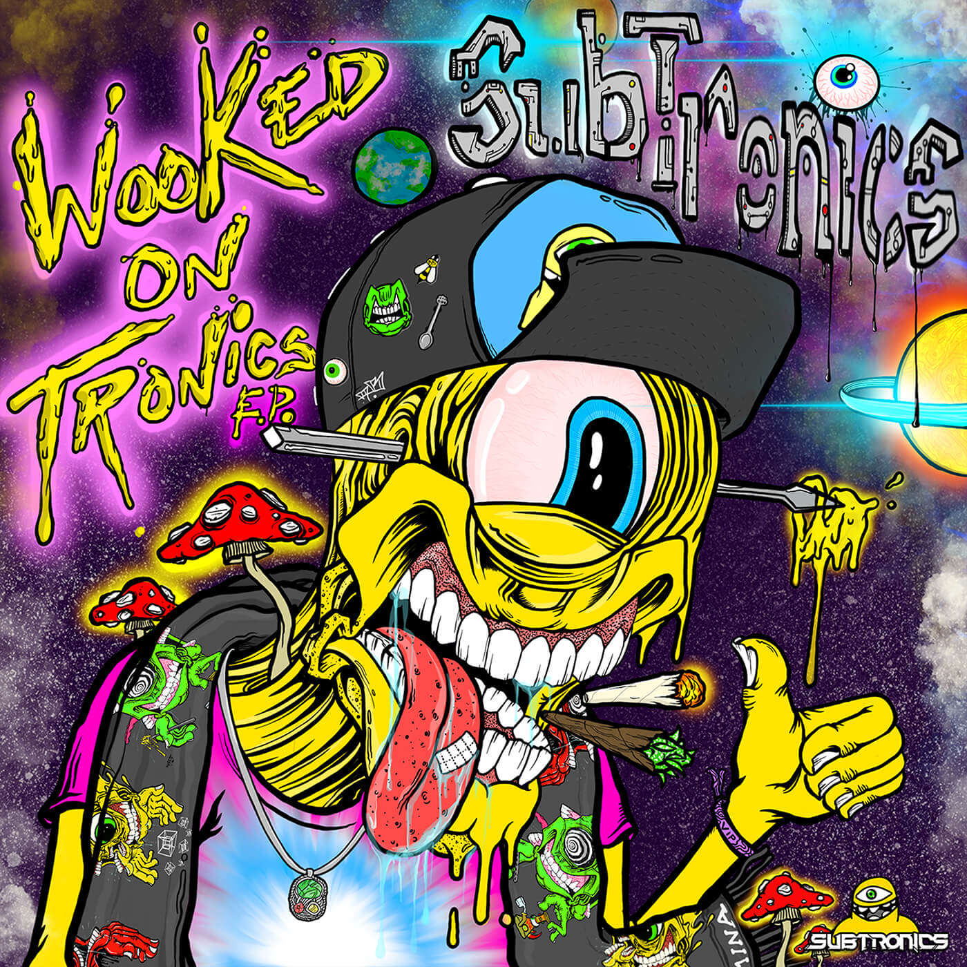 Artwork for Subtronics Wooked On Tronics EP