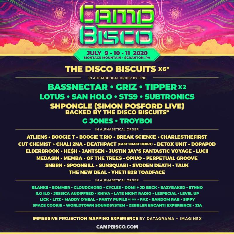 Camp Bisco 2020 Lineup