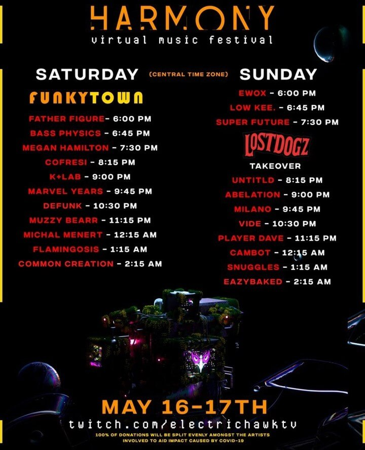 Harmony Festival Daily Lineup