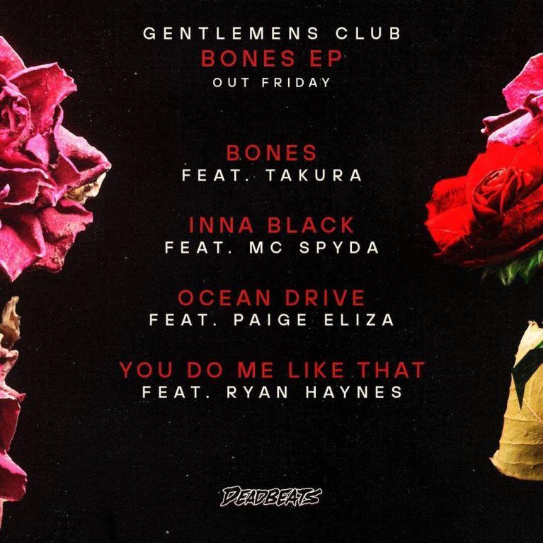 Gentlemens Club Bones EP Tracklist
