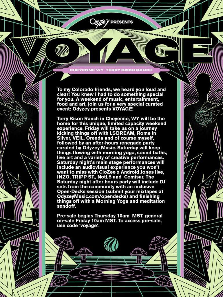 CloZee curated event Voyage