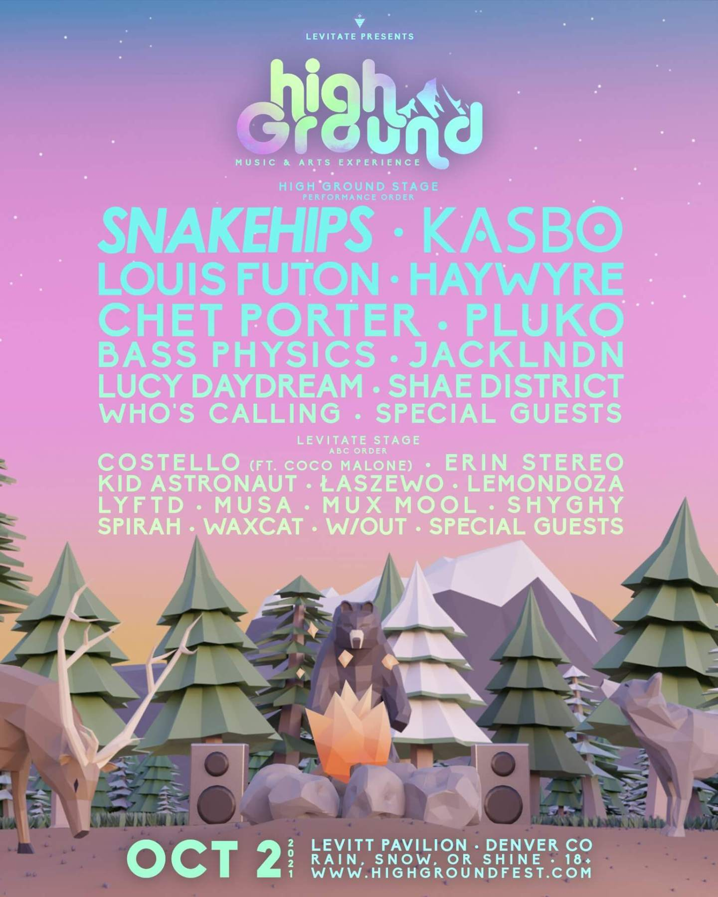 high ground festival ineup