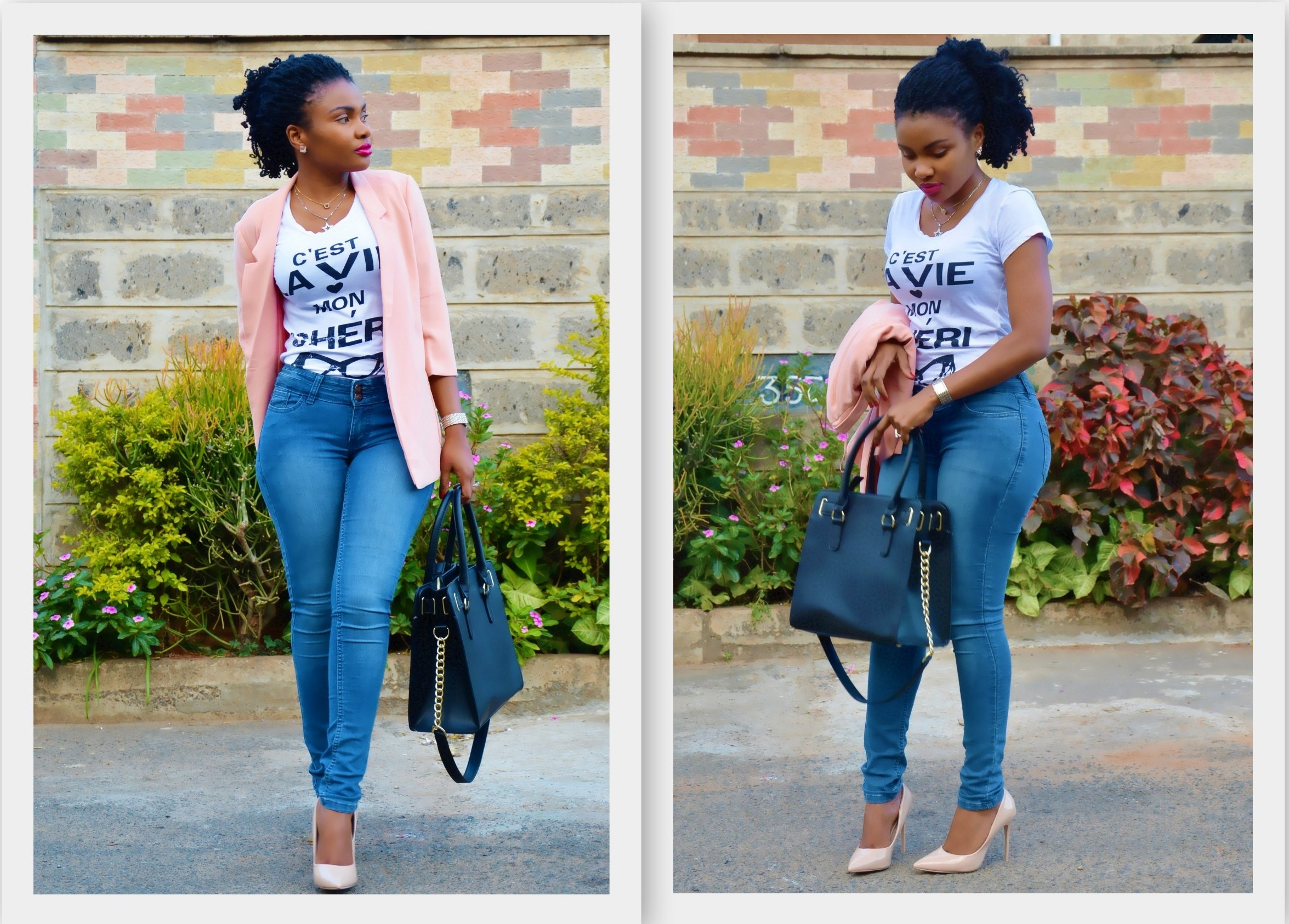 SPRUCED UP: JEANS AND A TEE