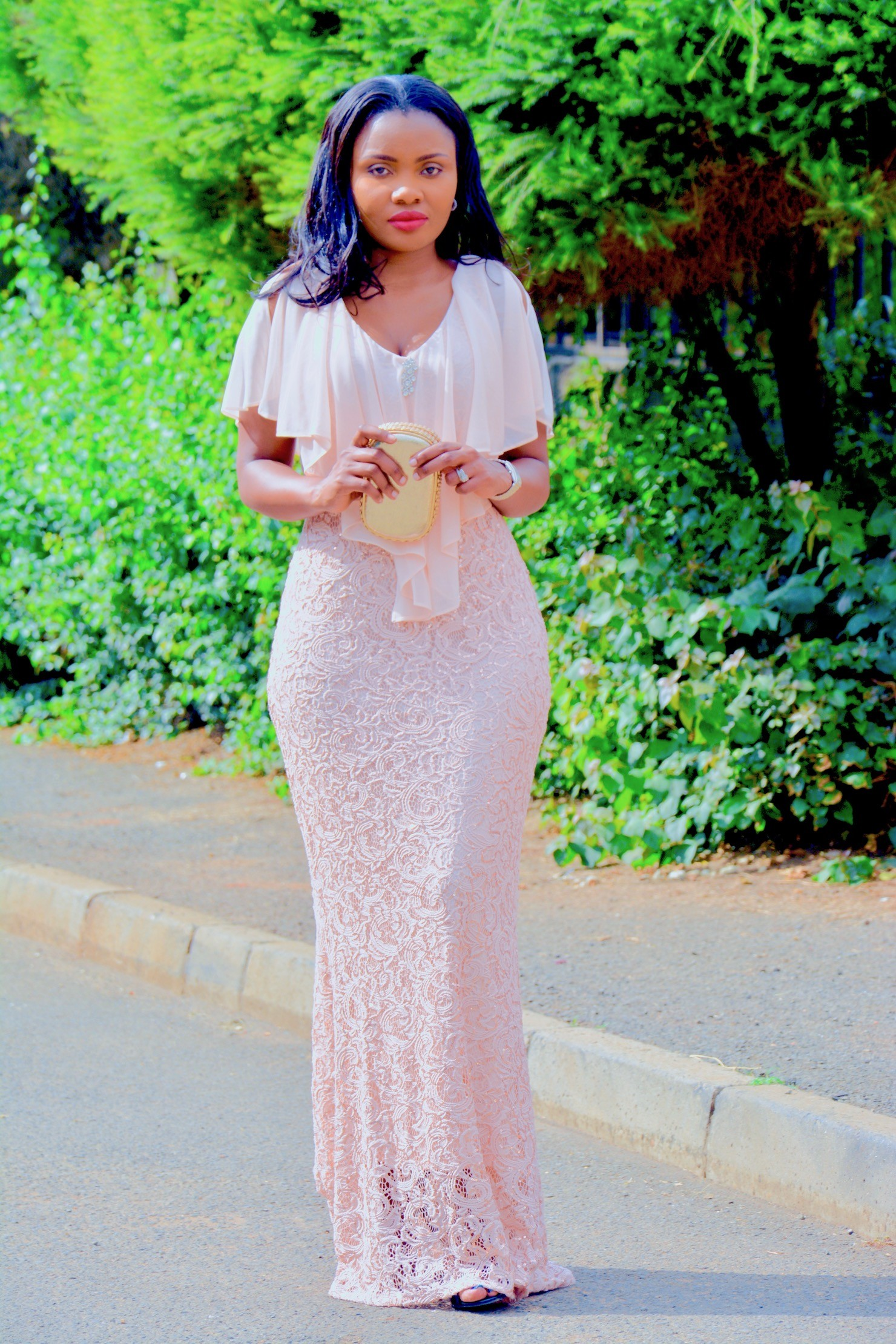 GLAMOUR IN A BLUSH PINK GOWN
