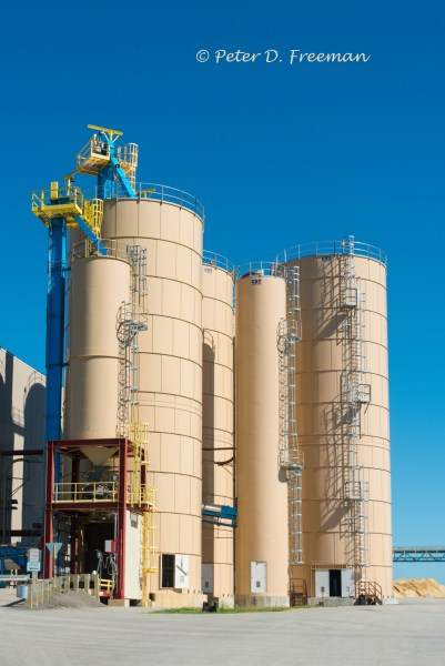 Stand of Sand Silos
