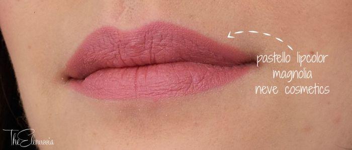 swatch magnolia pink neve cosmetics
