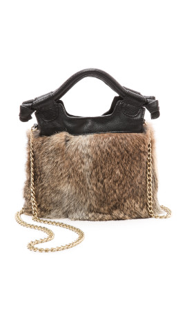 Foley + Corinna Tiny City Cross Body Bag with Fur, $195, shopbop.com