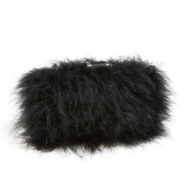 Sondra Roberts Furry Monster Feather Clutch, $128, nordstrom.com