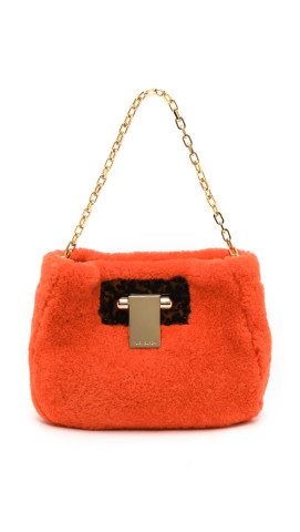 Tory Burch Fun Fur Clutch, $550, shopbop.com