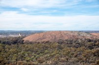 view from the top of wave rock