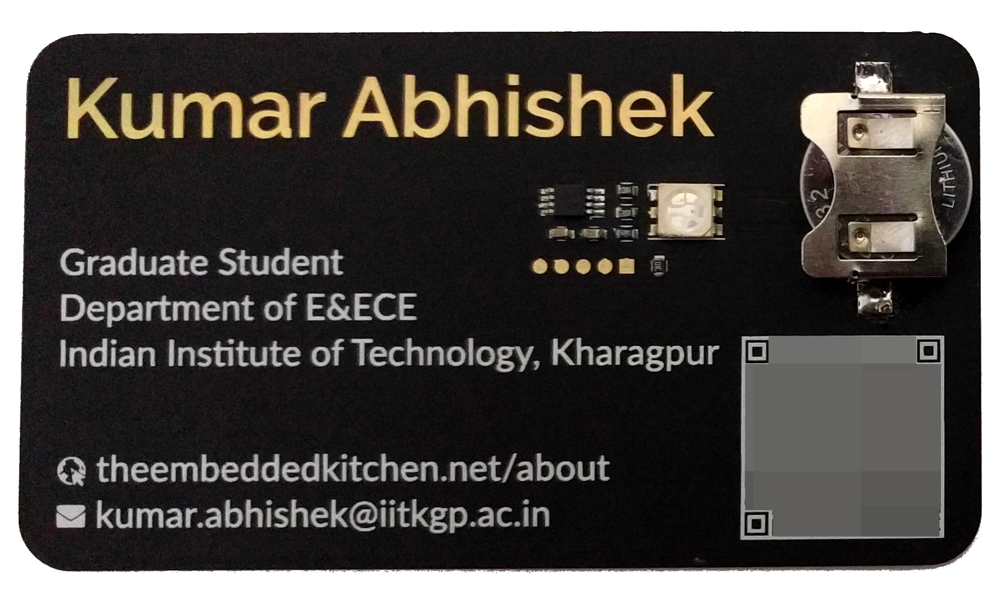 The Printed Circuit Name Card – The Embedded Kitchen