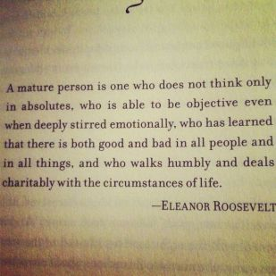 a mature person_eleanor roosevelt