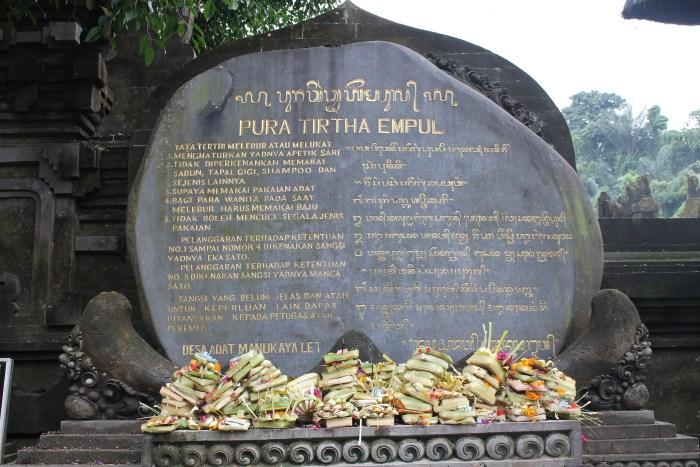 Pura Tirtha Ampul Holy Water Temple Bali
