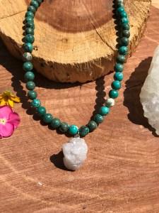 Green gemstone necklace. www.theenchantedgypsy.com