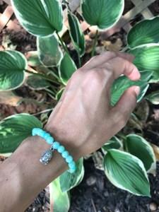 aqua Buddha bracelet. www.theenchantedgypsy.com