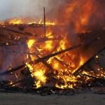 angry america burning house