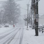 Norwalk,,Ct,,Usa,-february,7,,2021:,Person,Is,Walking,In