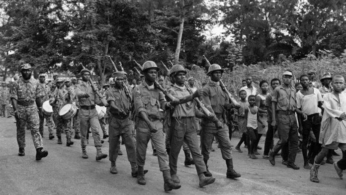 soldiers in the nigerian civil war biafra genocide