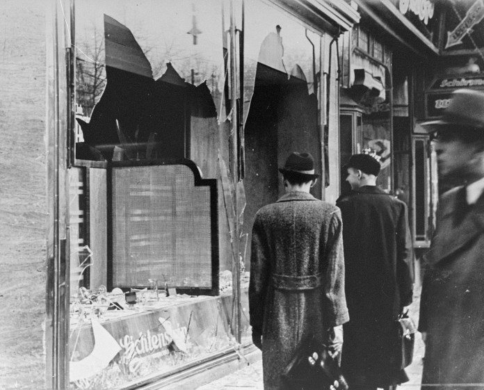 stages of the holocaust night of broken glass kristallnacht