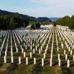 Srebrenica,May,2021:,Aerial,Drone,View,Of,Gravestones,In,Memorial