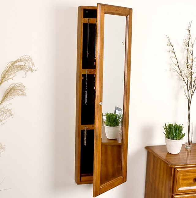 Full Length Mirror With Jewelry Storage Home Design Ideas