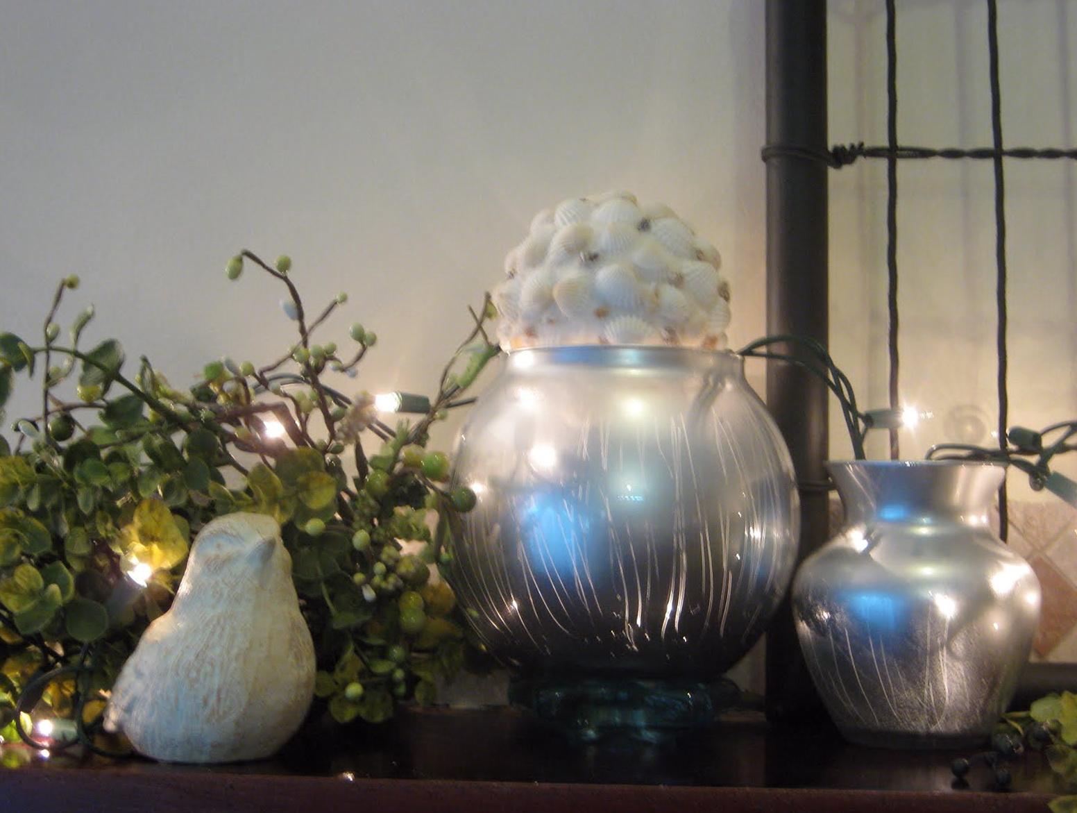 Mercury Glass Vase Pottery Barn