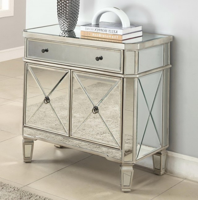 Mirrored Console Table With Drawers