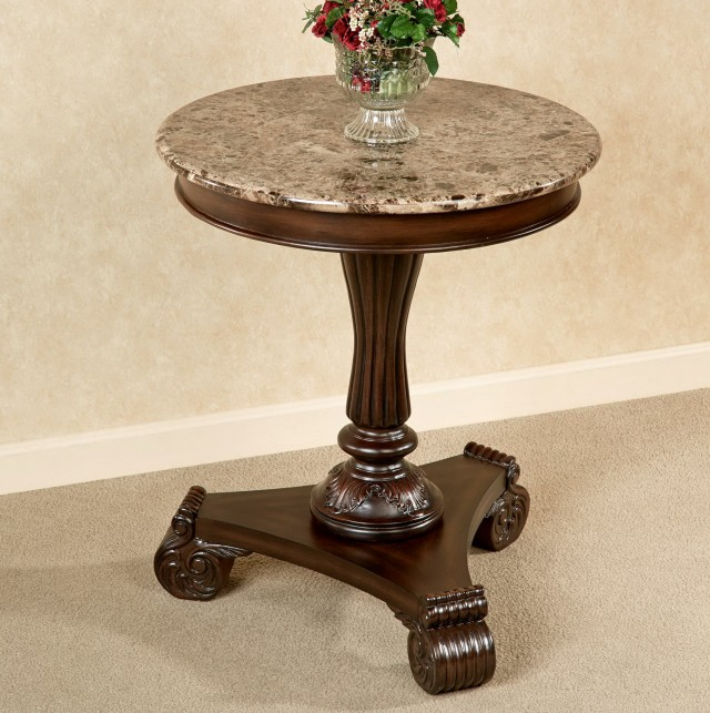 Small Pedestal Side Table