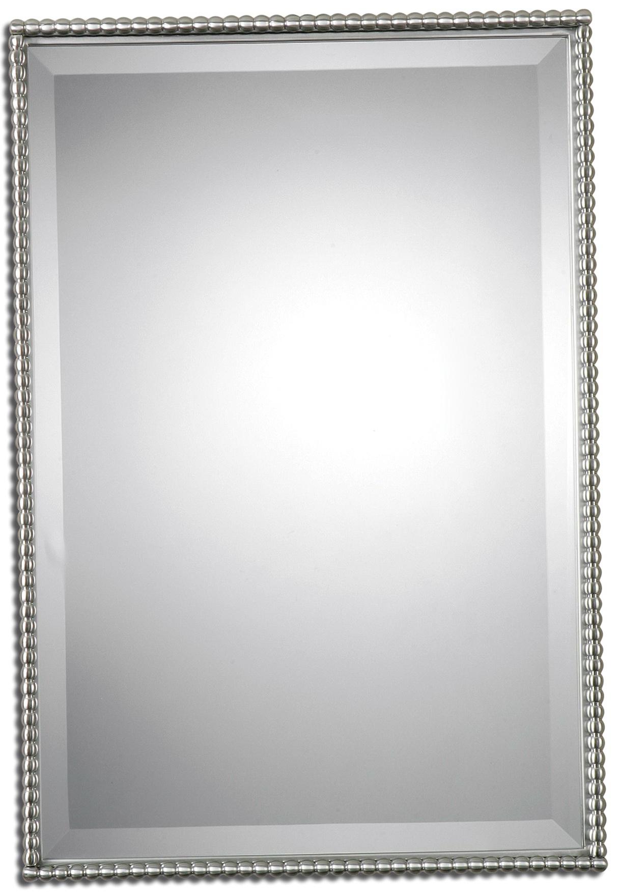 Brushed Nickel Mirror Bathroom