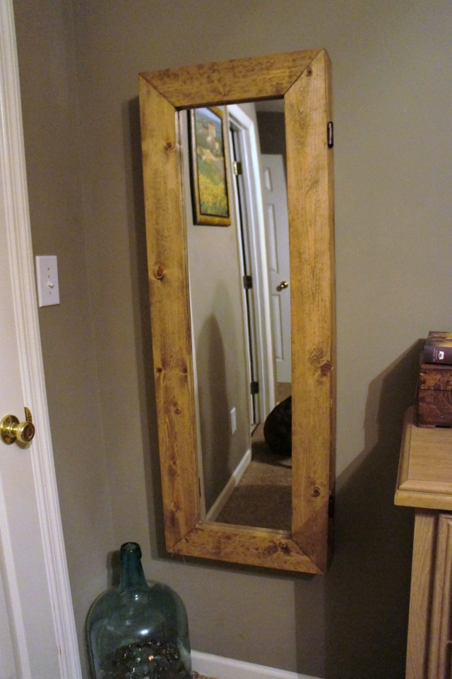 Diy Standing Mirror Jewelry Armoire