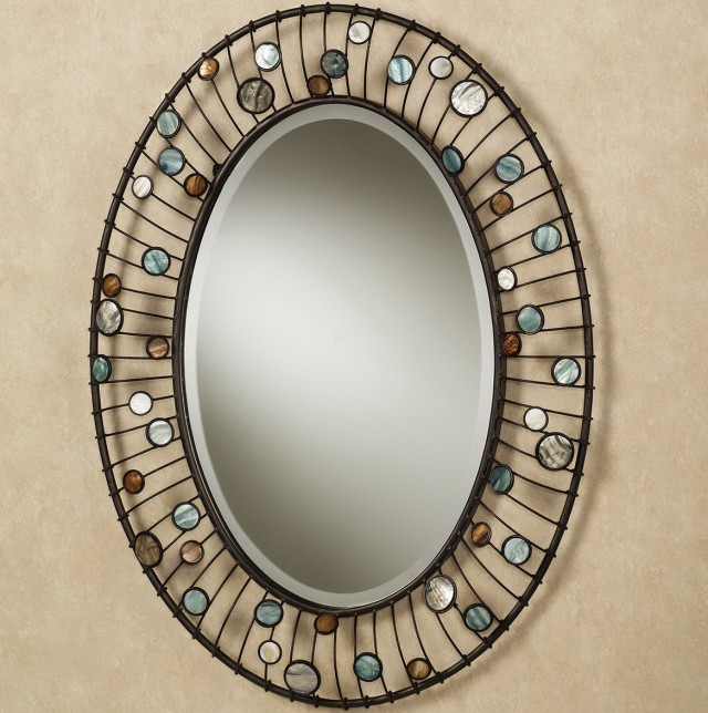 Framed Oval Bathroom Mirrors