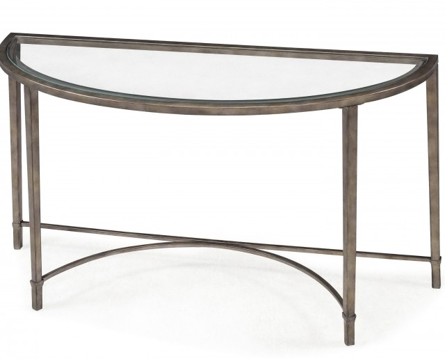 Glass And Metal Console Table