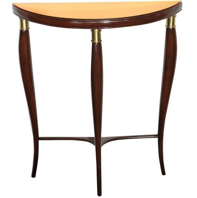 Mirrored Demilune Console Table