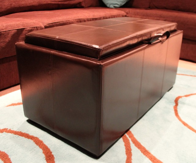 Shoe Storage Ottoman Real Simple