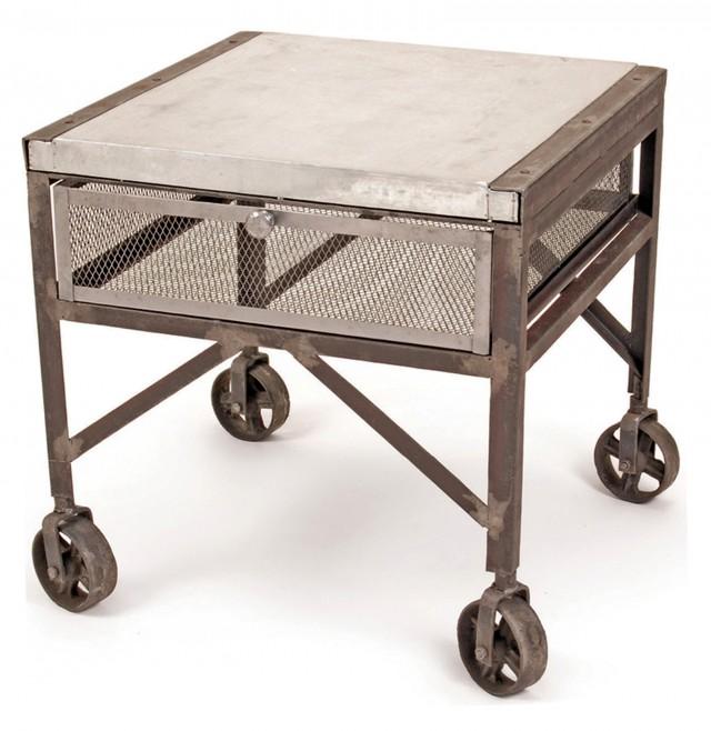Vintage Industrial Side Table