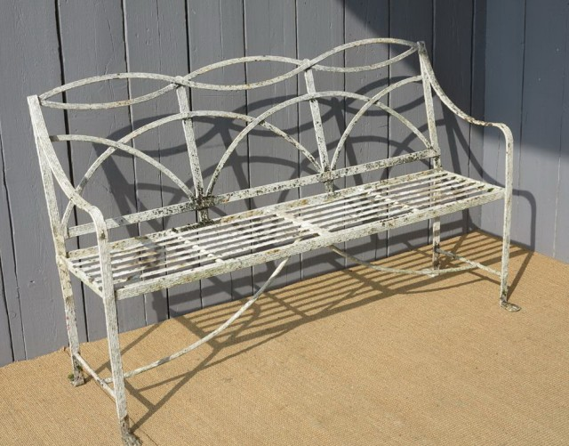 Wrought Iron Bench Antique