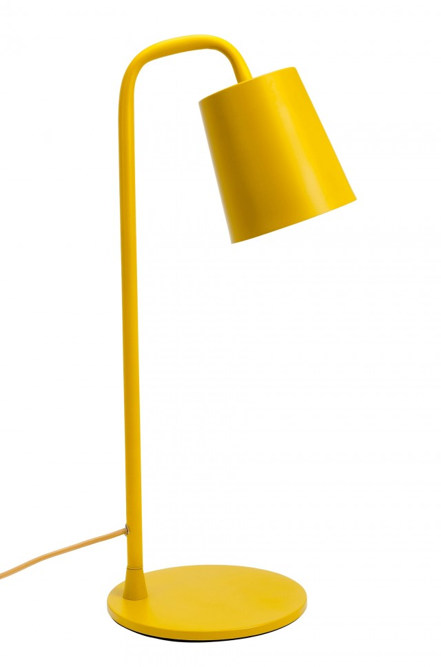 Yellow Side Table Lamp