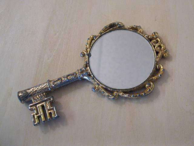 Antique Hand Held Mirrors Silver