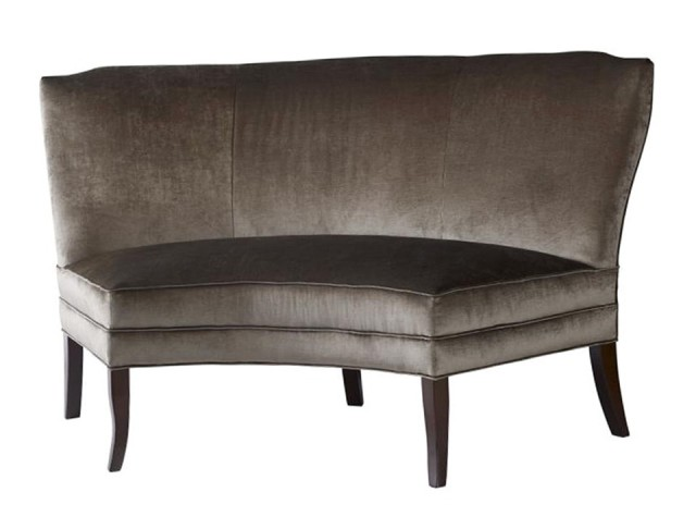 Curved Dining Bench With Back