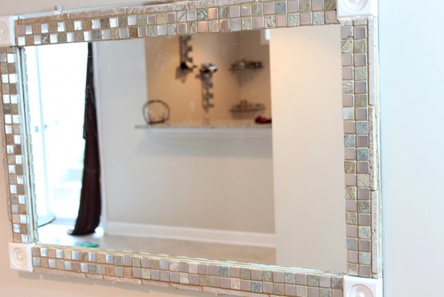 Framing Bathroom Mirror With Tile