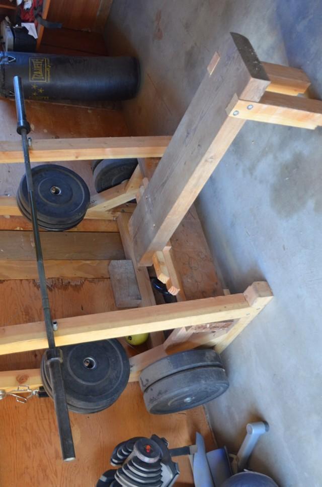 Homemade Bench Press Rack