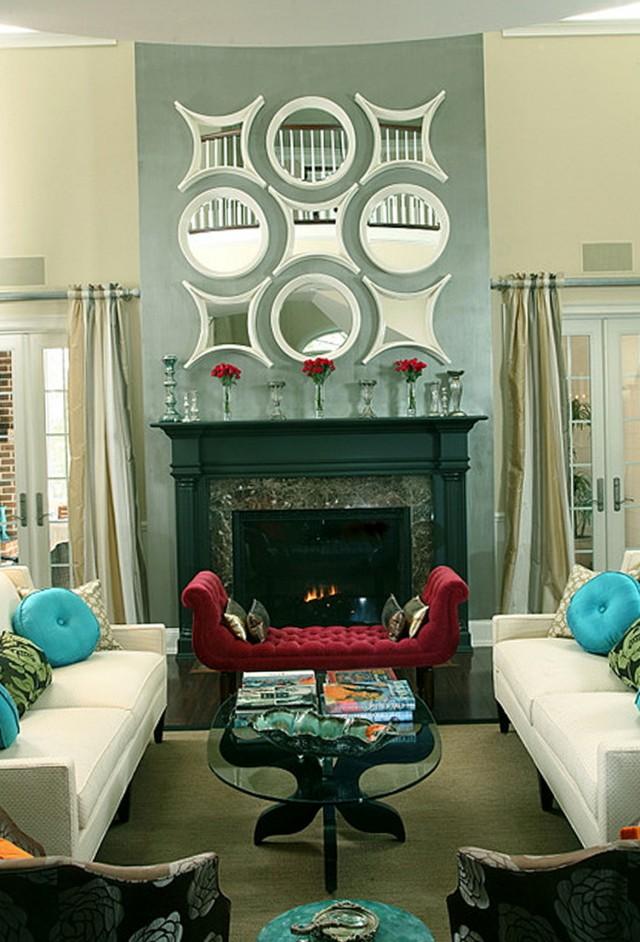 Mirror Over Fireplace Ideas